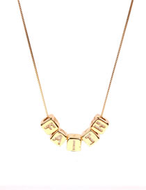 Fashion Faith Love Necklace With Letters And Cubes