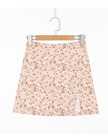 Fashion Printing Floral Print Split Skirt
