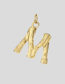 Fashion M-38+5 Bead Chain 26 Letters 316l Titanium Steel Gold Plated Necklace