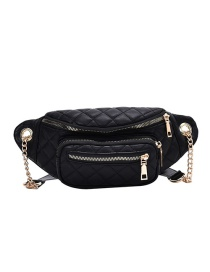 Fashion Black Chain Quilted Shoulder Crossbody Bag