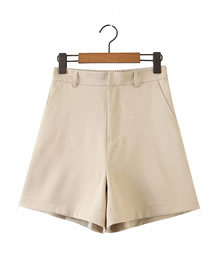 Fashion Beige Loose Straight Shorts