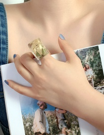 Fashion Dried Flower Yellow Rose Ring Pearl Square Sol Eternal Flower Earring Ring Necklace