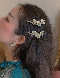 Fashion Top Clip Plum Blossom Branch Natural Pearl Hairpin