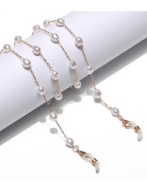 Fashion Golden Malformed Pearl Alloy Anti-lost Anti-drop Glasses Chain