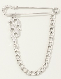 Fashion Flame Flame Chain Alloy Hollow Brooch
