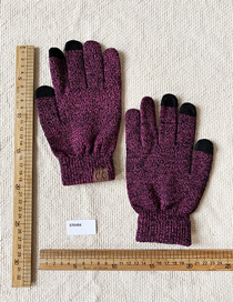 Fashion Red Knitted Gloves