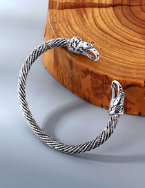 Fashion White K Eagle Mouth Relief Spiral Bracelet