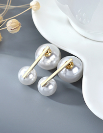 Fashion White Gold-plated Pearl Earrings