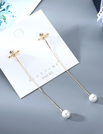 Fashion Golden Gold-plated Pearl Earrings