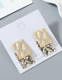 Fashion 14k Gold + Dumb Gold True Gold Plated S925 Silver Pin Stud Earrings
