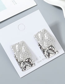 Fashion Platinum + Dumb Silver True Gold Plated S925 Silver Pin Stud Earrings
