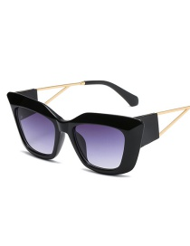 Fashion Up Blue And Down Gray Cat-eye Gradient Sunglasses