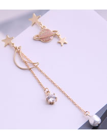 Fashion Golden Star Pearl Stud Earrings