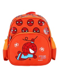 Fashion Orange Spiderman Car Spiderman Print Children Backpack