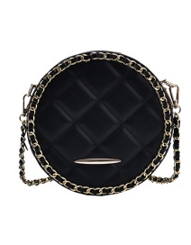 Fashion Black Chain Round Diamond Single Shoulder Crossbody Bag