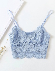 Fashion Blue Lace Underwear Short Top
