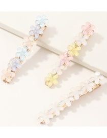 Fashion Color Mixing Resin Flower Contrast Color Alloy Hair Clip Set