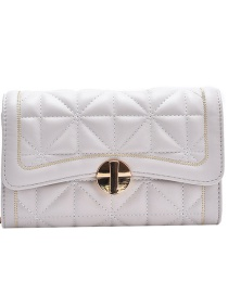 Fashion Creamy-white Chain Embroidered Thread Shoulder Bag