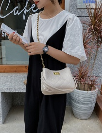 Fashion Creamy-white One-shoulder Crossbody Bag