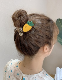 Fashion Carrot Resin Fruit Smiley Face Flower Telephone Line Hair Rope