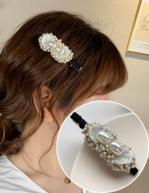 Fashion White Shell Pearl Beaded Alloy Hairpin