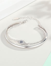 Fashion Silver Zircon Sun-plated And Genuine Gold-plated Diamond Chain Bracelet