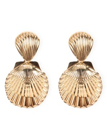 Fashion Golden Scallop Alloy Earrings