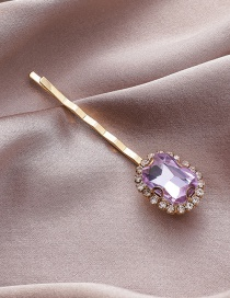Fashion One Gem Diamond-cut Crystal Pearl Alloy Geometric Hairpin