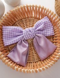 Fashion Splicing Section (large Size) Large Bow Tie Contrast Color Hairpin