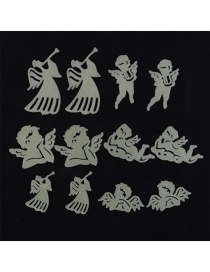 Fashion 5-7.5cm 12pcs/bag Angel Child Gift Luminous Wall Sticker