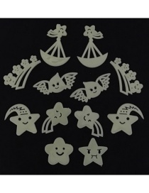 Fashion Star 12pcs/package Star Fluorescent Self-adhesive Wall Sticker