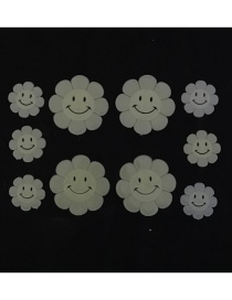 Fashion 3.5-6cm 10pcs/bag Sunflower Room Decoration Luminous Stickers With Double-sided Adhesive