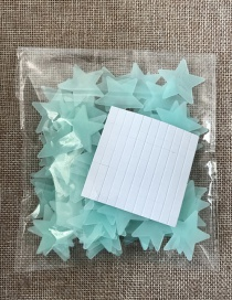 Fashion 3cm Light Blue 100pcs/bag 3cm Stars Luminous Patch 102pcs