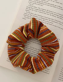 Fashion Brick Red Knitted Striped Hair Band