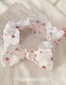 Fashion Lace-white Strawberry Face Wash Butterfly End Hair Band