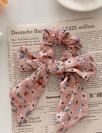 Fashion Pink Floral Floral Bow Hair Band