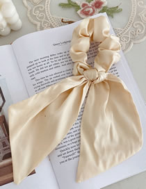 Fashion Beige Satin Ribbon Candy Color Hair Rope