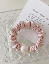 Fashion Light Pink Pearl Satin Hair Rope