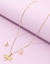 Fashion Golden Dragonfly Alloy Multilayer Necklace Earrings