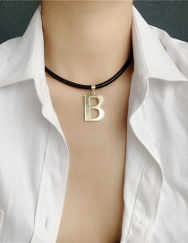 Fashion Necklace Leather Rope Alphabet Earring Necklace