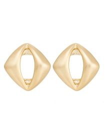 Fashion Matte Gold Hollow Square Alloy Geometric Earrings