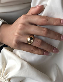Fashion Golden Geometric Smooth Alloy Ring
