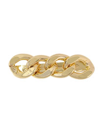 Fashion Golden Alloy Thick Chain Hollow Hairpin