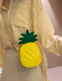 Fashion Pineapple Yellow Pineapple Strawberry Contrast Chain One Shoulder Crossbody Bag