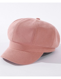 Fashion Pink Cotton Solid Color Octagonal Duck Tongue Hat