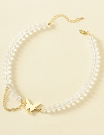 Fashion Gold Color Alloy Resin Butterfly Necklace