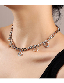 Fashion Silver Cloud Pendant Alloy Thick Chain Necklace