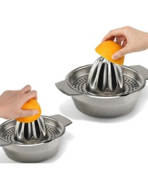 Fashion Silver Stainless Steel Manual Lemon Fruit Juicer