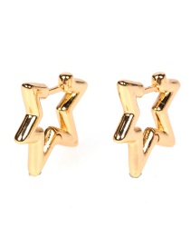 Fashion Five-pointed Star Gold-plated Five-pointed Star Love Earrings
