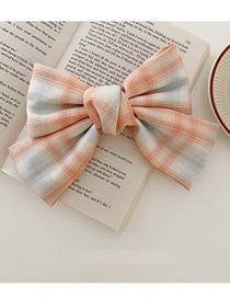 Fashion Duckbill Clip-pink Large Bow Fabric Lattice Hairpin